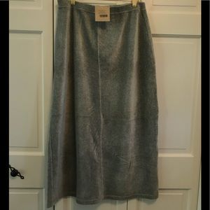 J.Jill Gray Velour Maxi Skirt